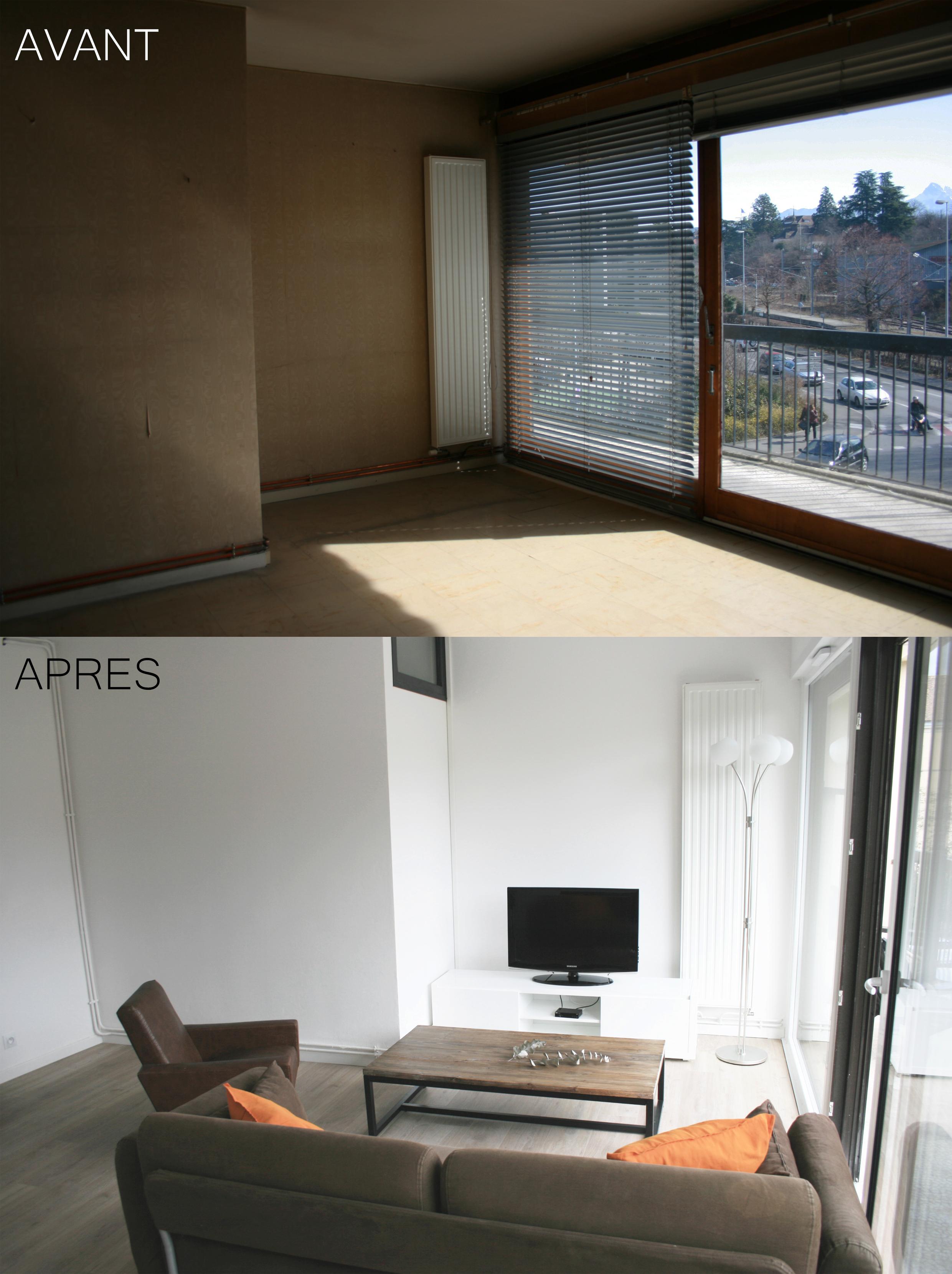 rénovation appartement - salon