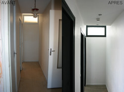rénovation appartement - couloir