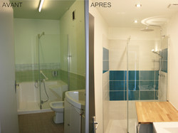 rénovation salle de bain-avant après