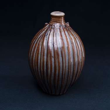 Small fluted bottle