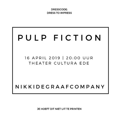 PULP FICTION -Ticket 16/04