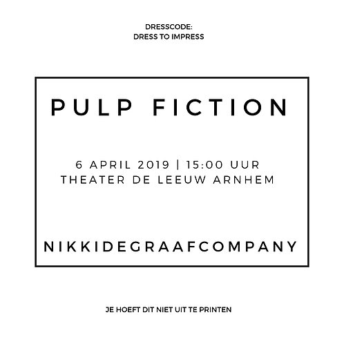PULP FICTION - 06/04 middag voorstelling
