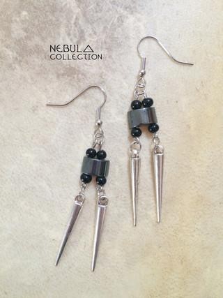 HEMATITE - NEBULA SPIKE EARRINGS