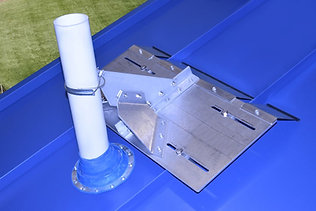 VentSaver EZ with standing seam plate and wing kit