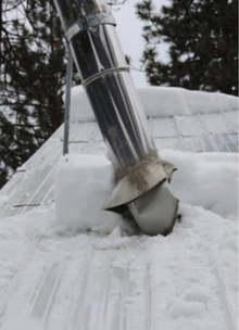 Broken Chimney Pipe