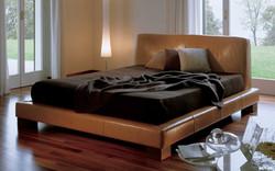 Кровать с высоким изголовьем BILL