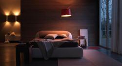Кровать с мягким изголовьем PonPon