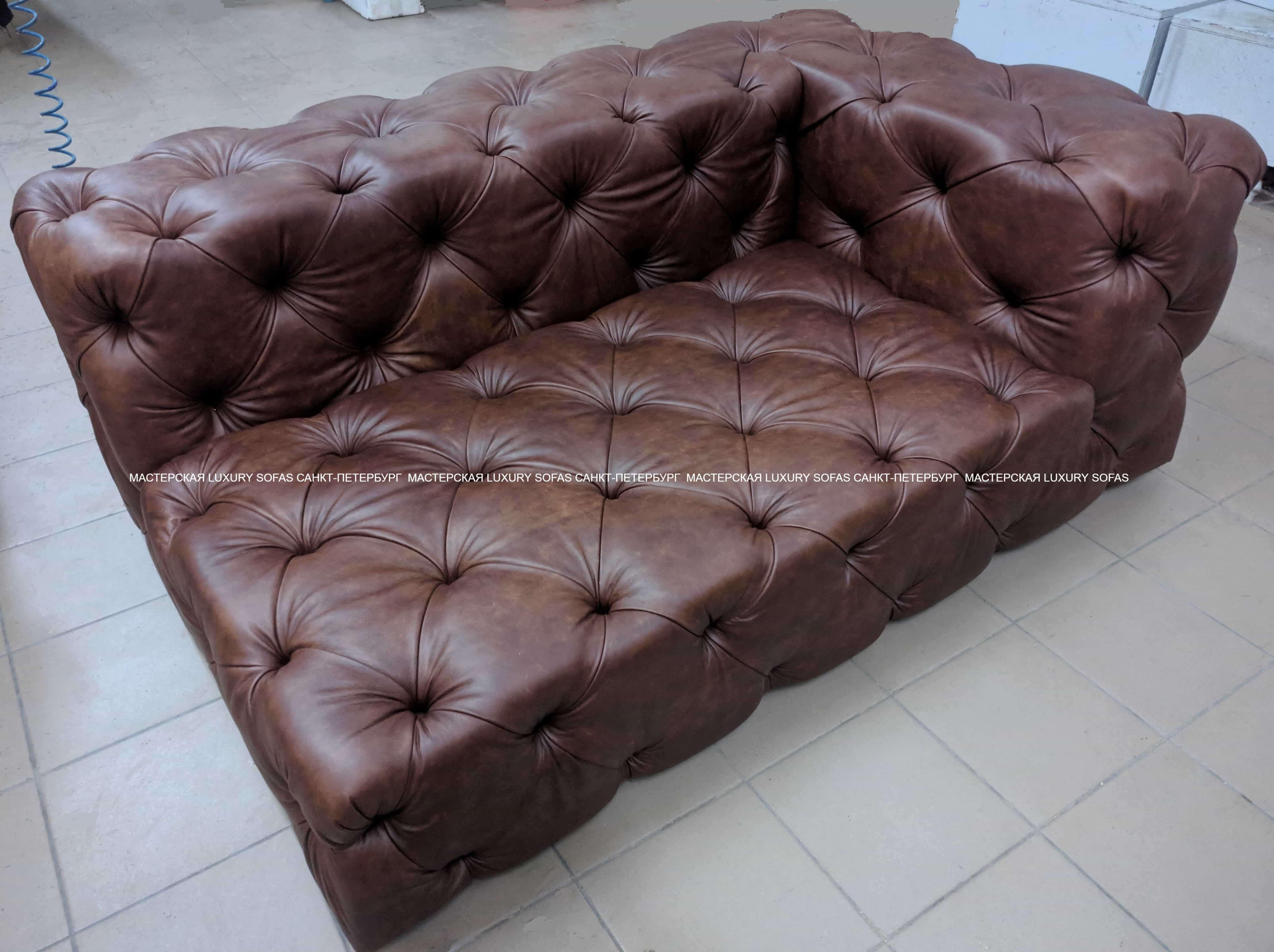 Кожаный диван LS168