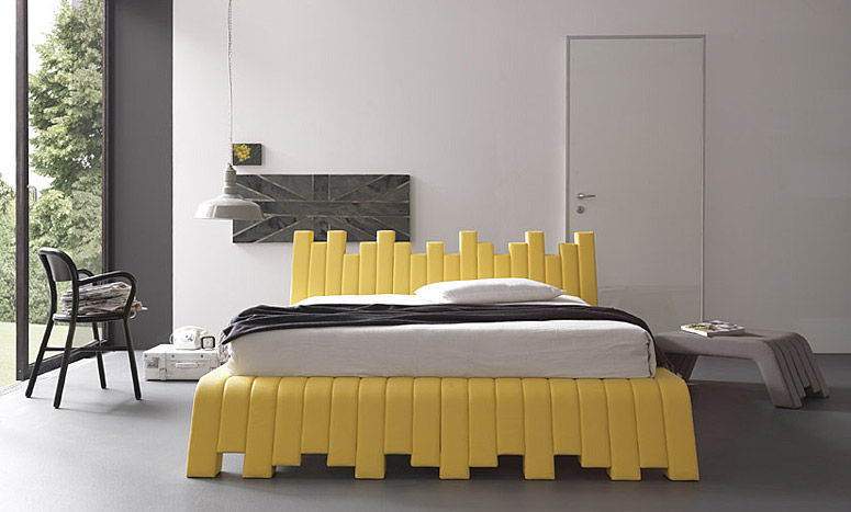 Кровать с мягким изголовьем Cube