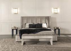 Кровать с мягким изголовьем Kube