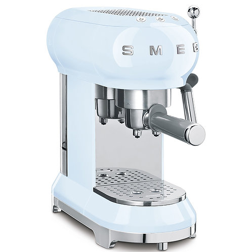 Smeg Espresso Coffee Machine, Pastel Blue
