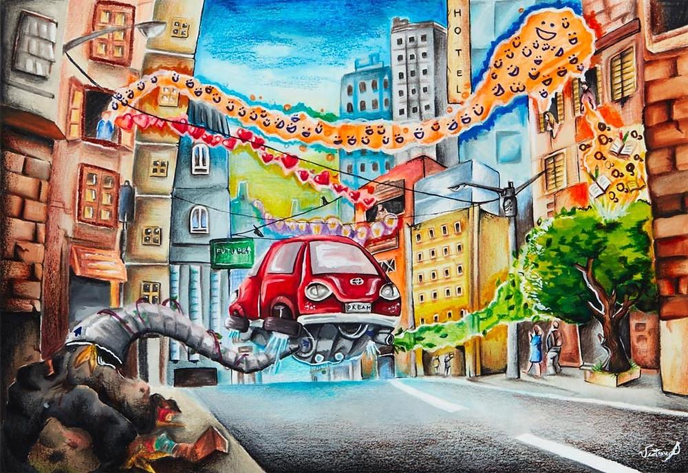 תחרות ציורי מכוניות העתיד לילדים של טויוטה 1