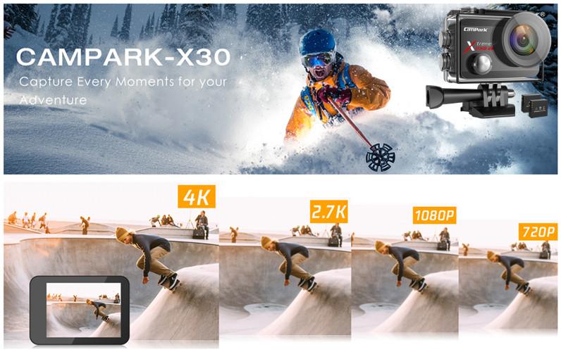 מצלמת אקסטרים 4K לאופניים וטיולים
