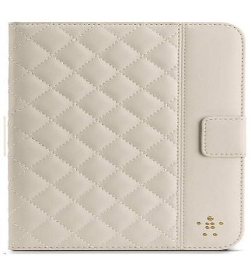 Belkin Quilted Cover With Stand For Ipad Mini In Cream