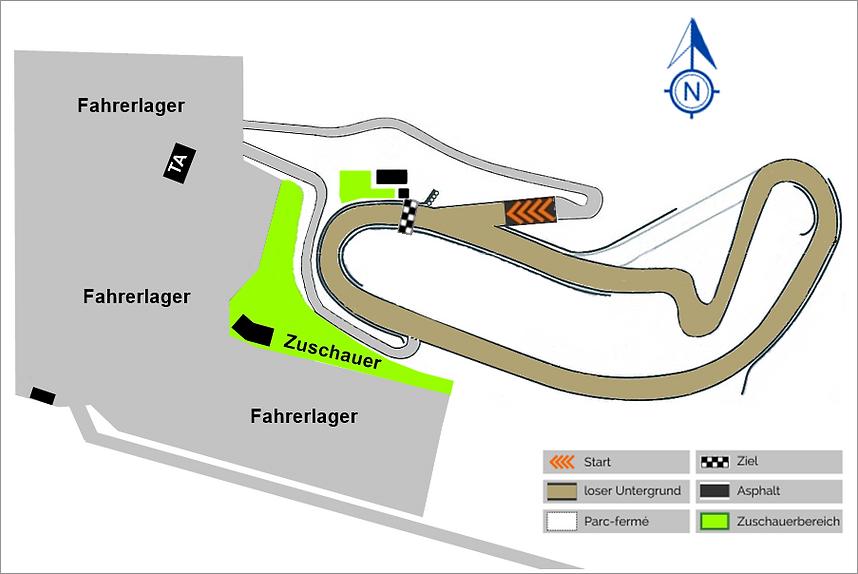 Strecke mit Fahrerlager