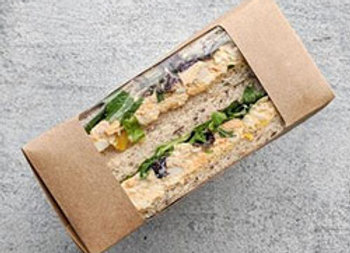 Individually boxed sandwich