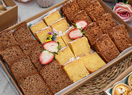 Assorted sweet bread slice