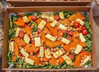 Haloumi, pumpkin and chickpea salad
