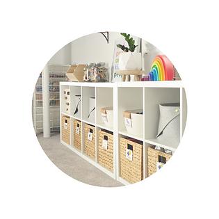 playroom toy organisation