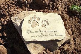 Stone Pet Plaque