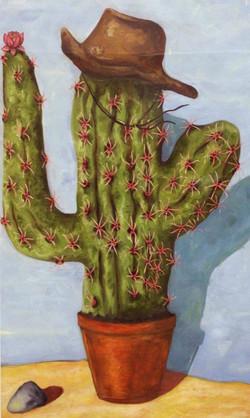 peinture cactus cow-boy