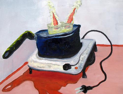 peinture étrange cuisine