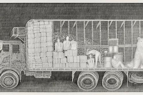 dessin au crayon à papier, l'invasion de la sicile par les ours