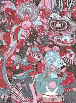 dessin feutre coloré rêve