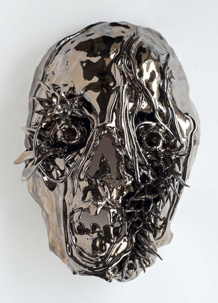 masque, métal, sculpture
