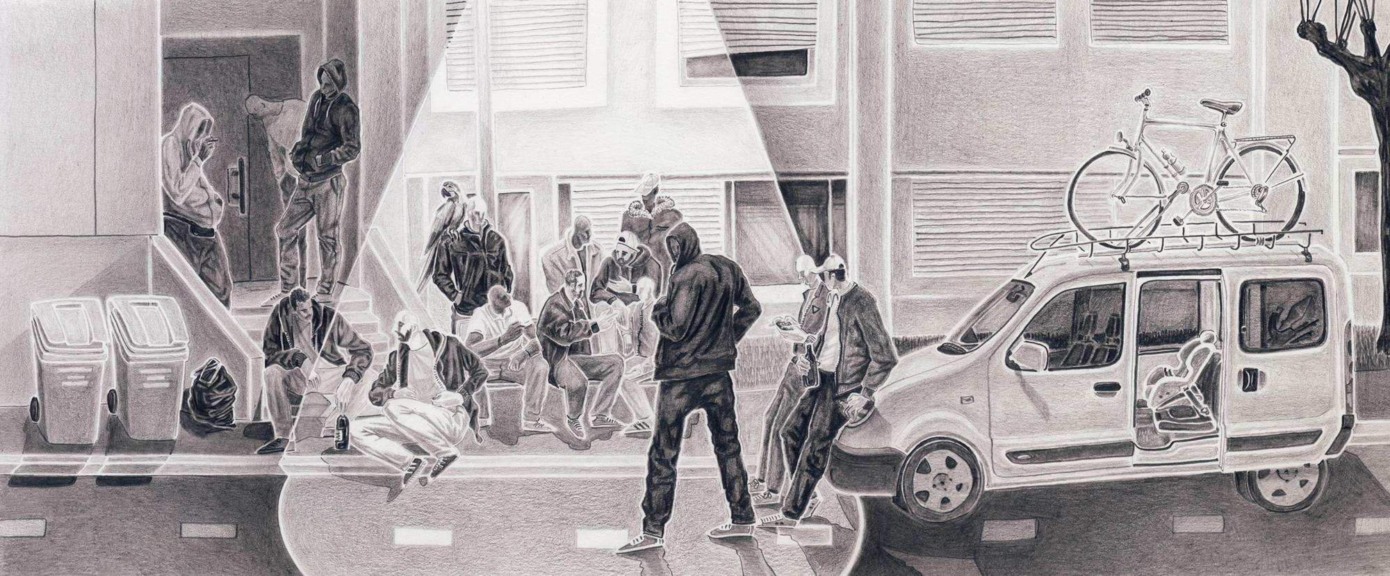 Thibaut Huchard, dessin crayon