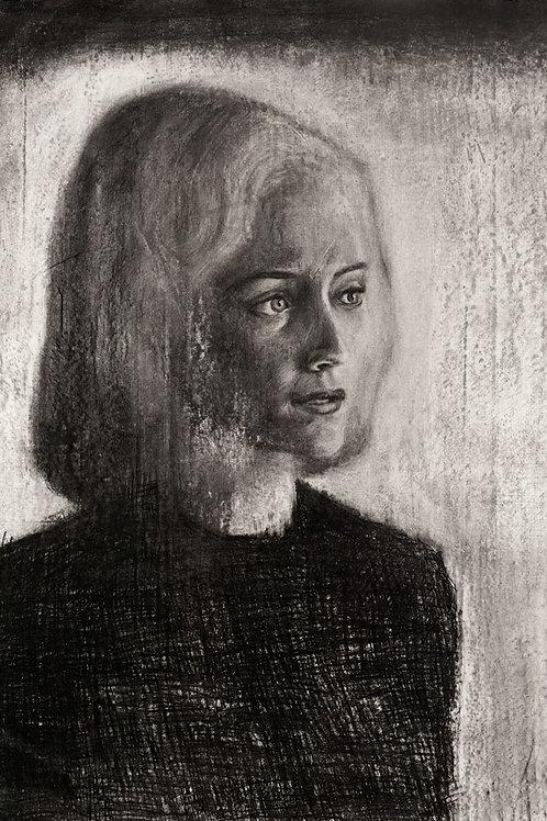 dessin visage féminin carré comté
