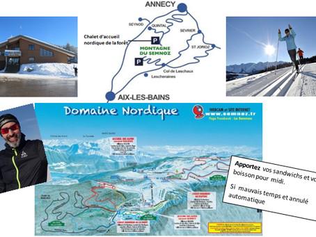 Sortie du ski de fond, le samedi 16  Mars 2019