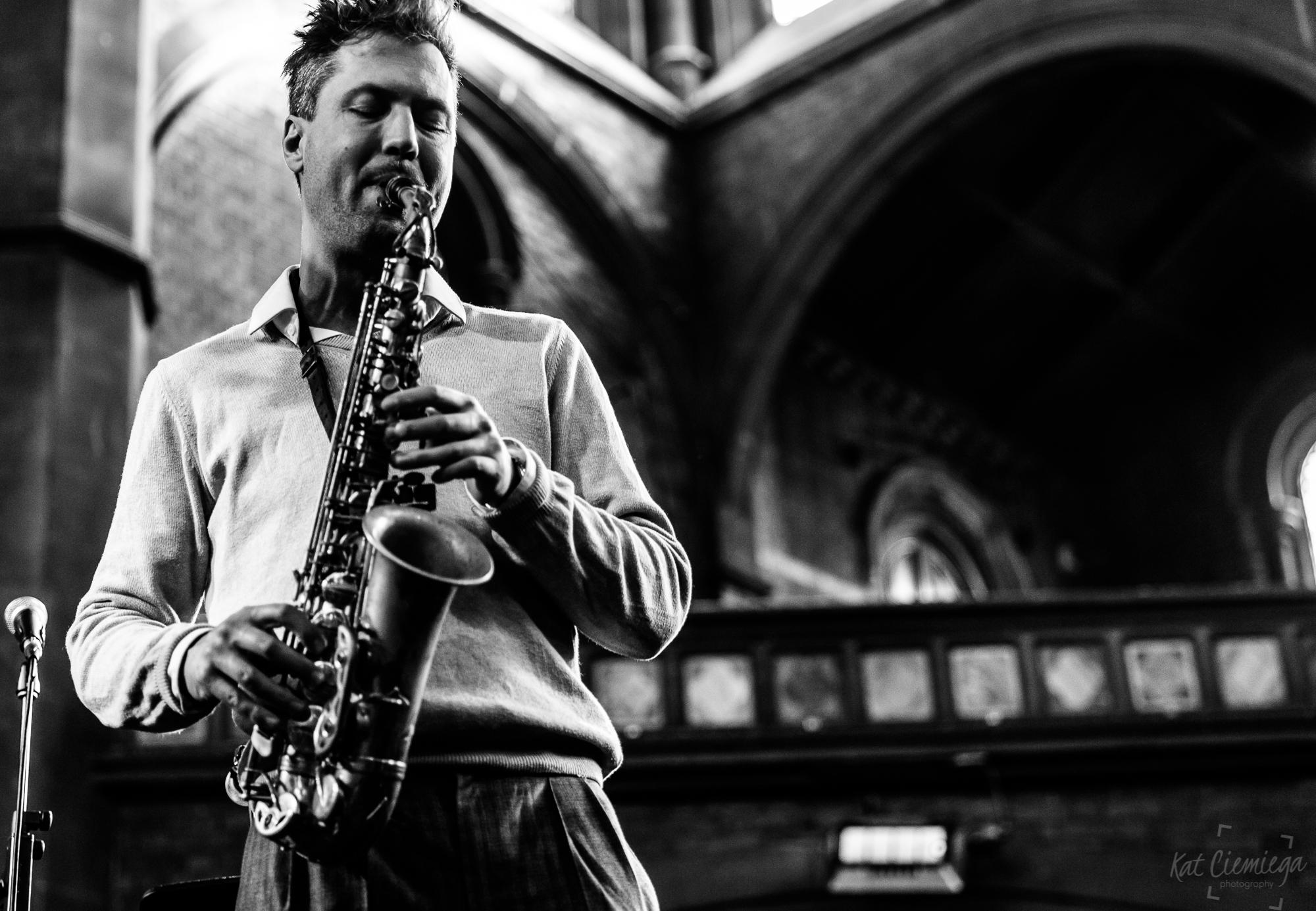 Kat Ciemiega Photography, Daylight Music, Guido Spannocchi, concert photographer, event photographer, live music, photographer London, music London, saxophone