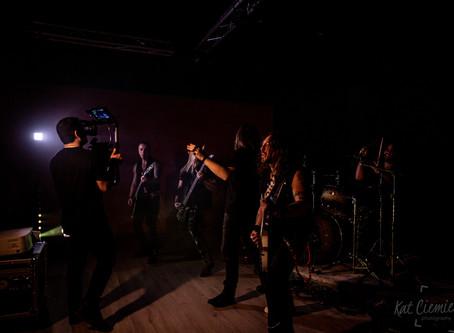 Behind the scenes on video set