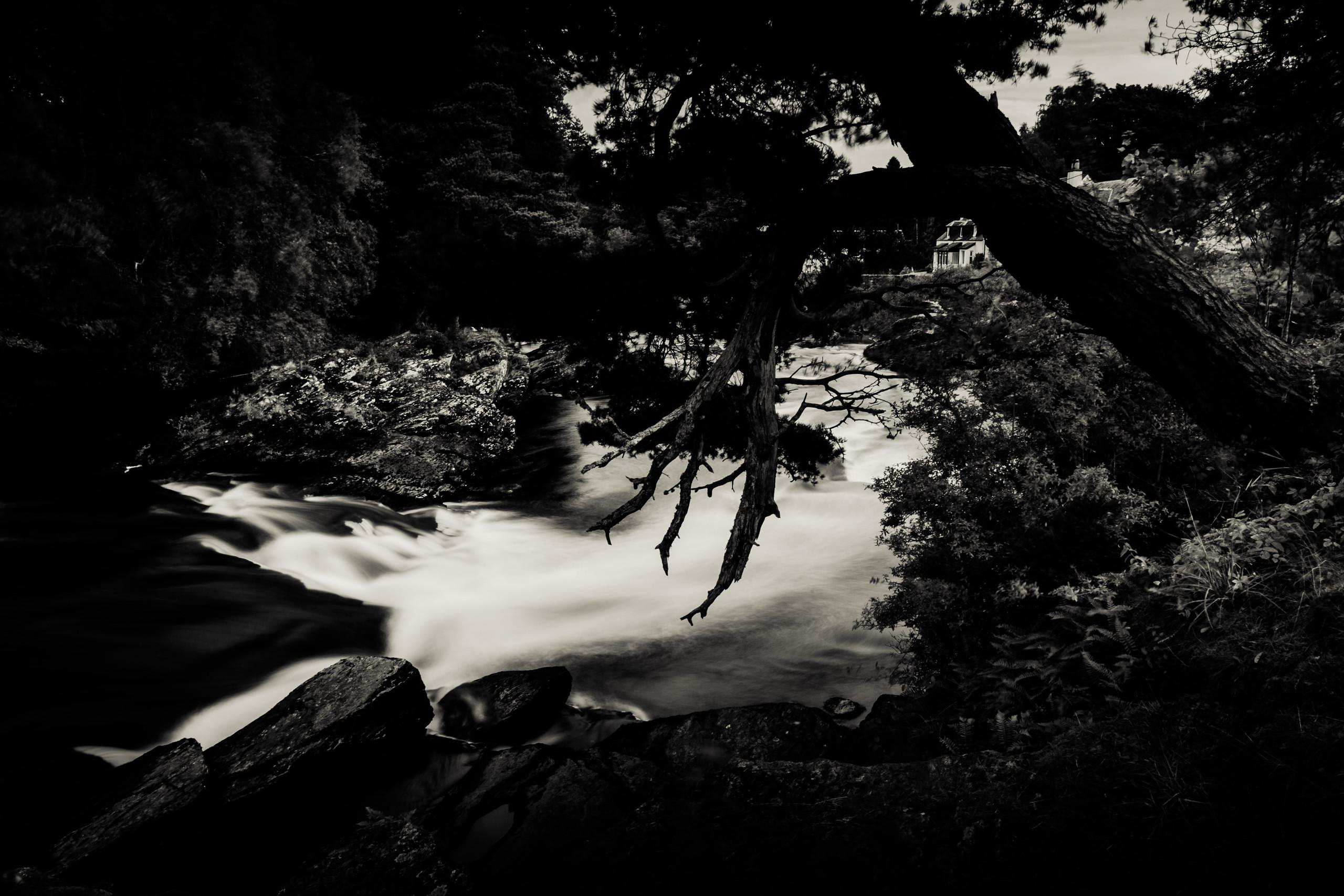 Scottish Highlands in a village called Killin. Scotland, landscapes, hiking