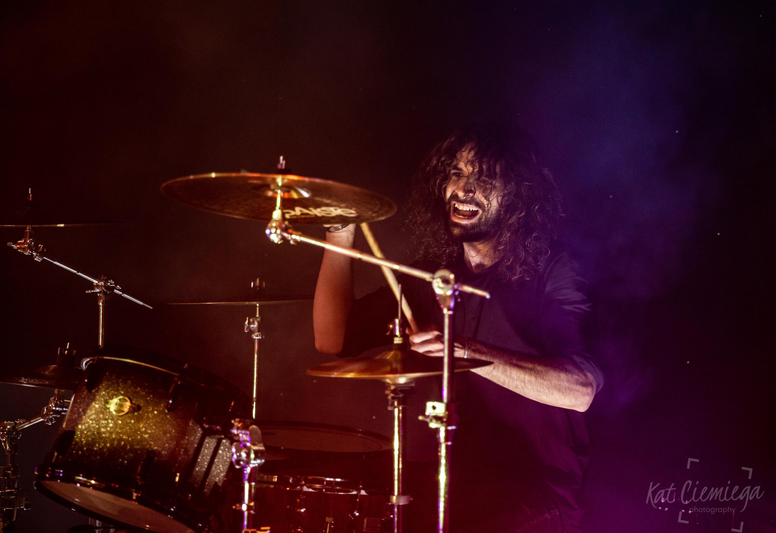 Kat Ciemiega Photography, music photography London, Metasoma, drummer, Hugo Terva