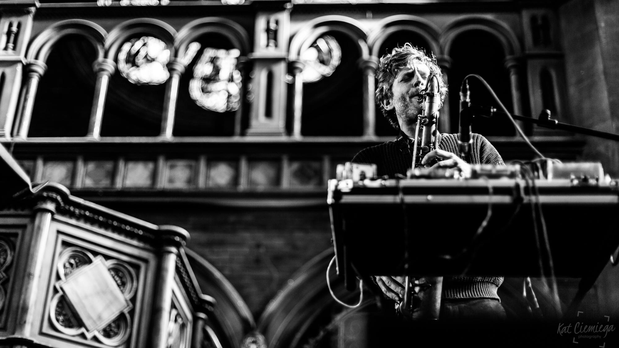 Kat Ciemiega Photography, Daylight Music, Robert Stillman, concert photographer, event photographer, live music, photographer London, music London, saxophone