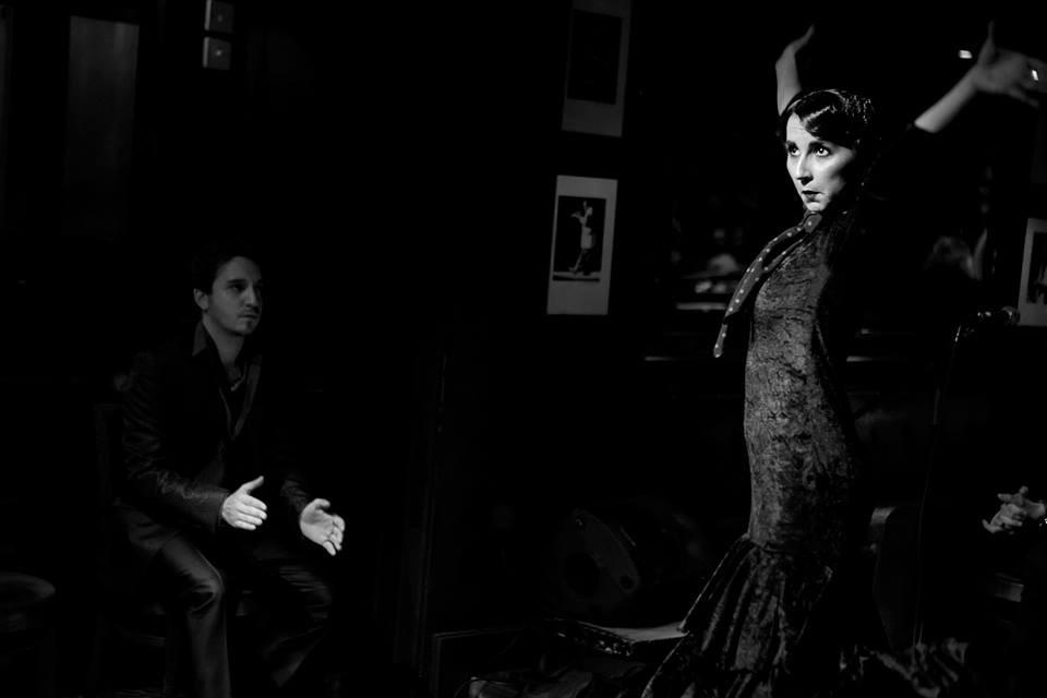 Lourdes Fernadez portrait, Jesus Olmedo in the dark