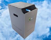 collecteur, recyclage, papier, bureau