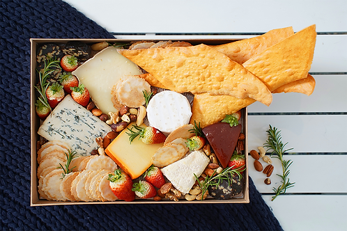 Gold Local Cheese Platter Box
