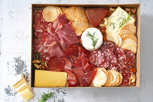 Silver Cheese & Meat Platter Box