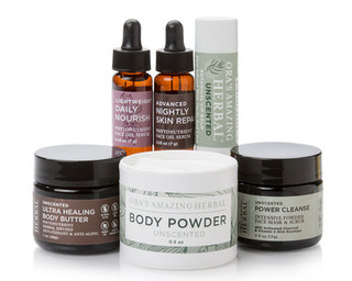 Uncented Body Cleansing and Lotions