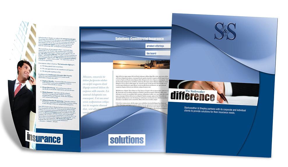 Insurance Presentation Folder Design