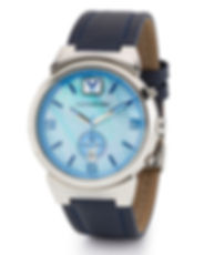 men's watch with blue face
