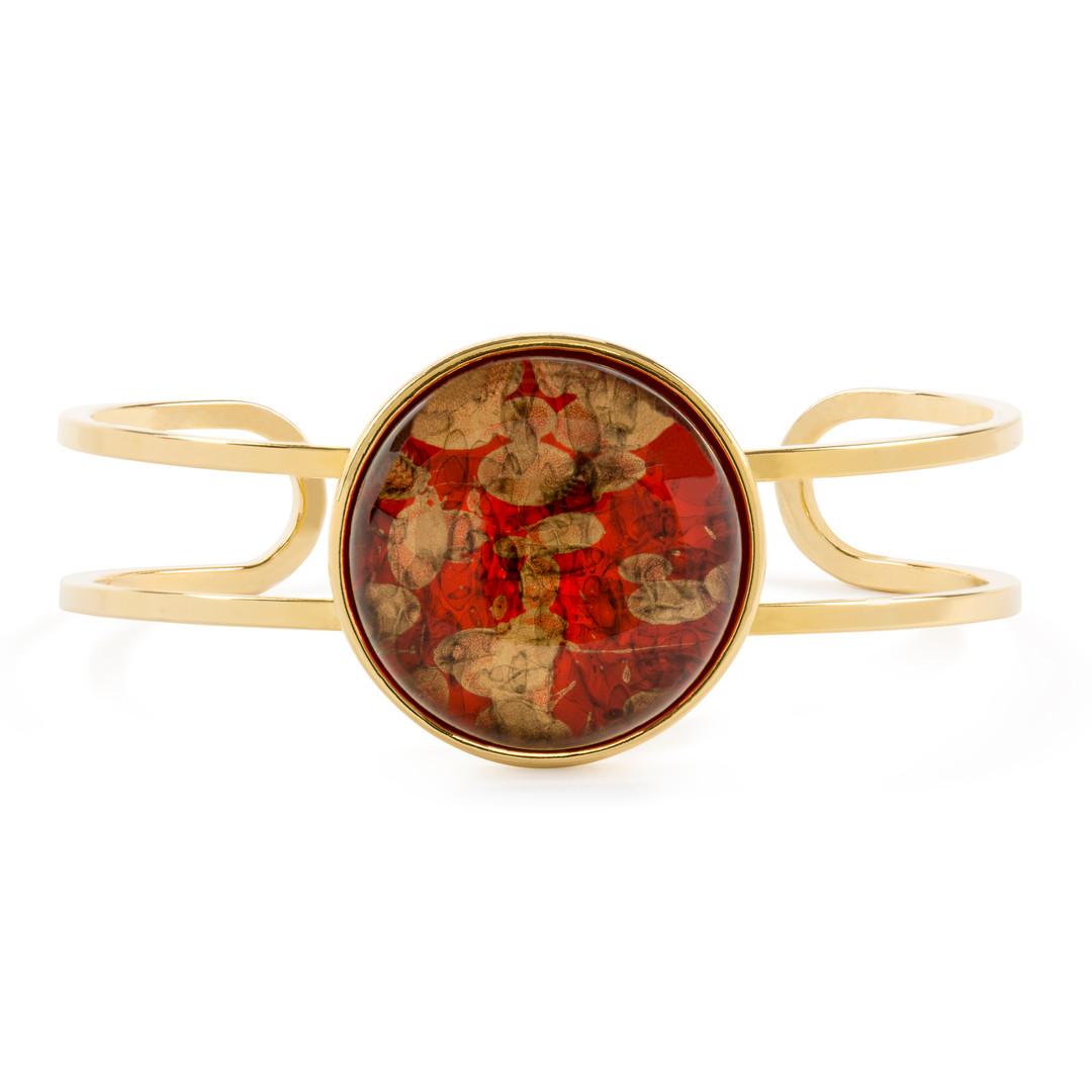 Red, Gold-Gold Cuff
