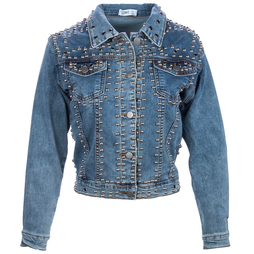 Blue Denim Crop Jacket