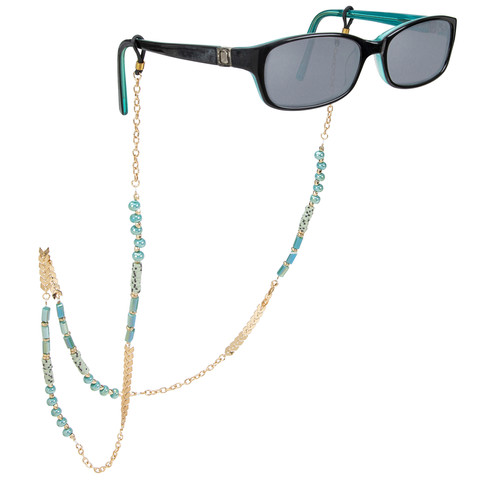Eyeglass Chain on Glasses