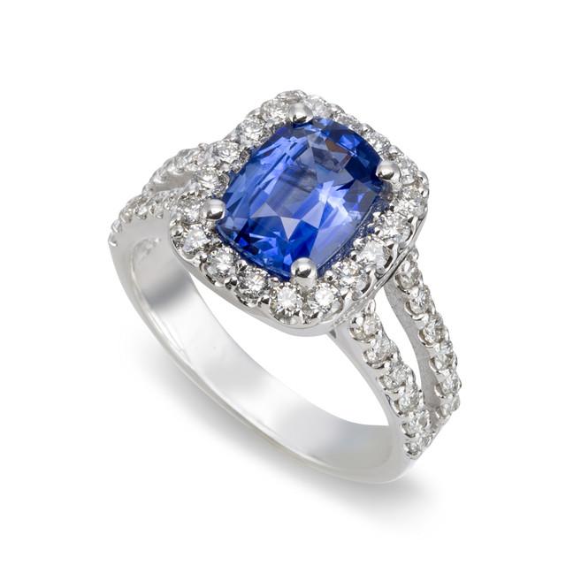 Sapphire Cushion Ring