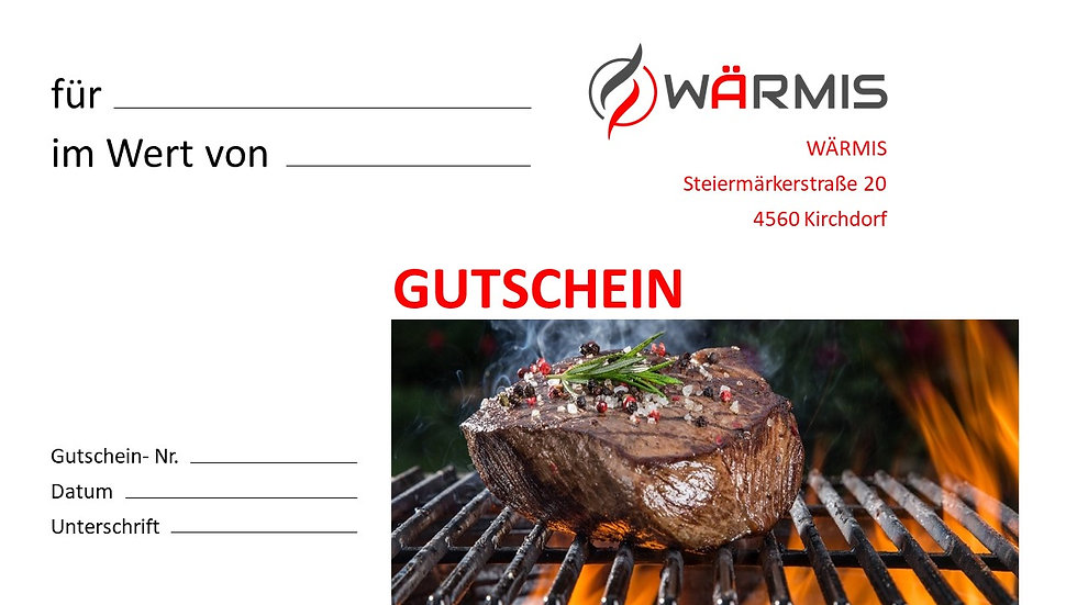WÄRMIS Gutschein 100€