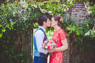 James & Caroline's Wedding Featured on Pasties & Petticoats Wedding Blog!